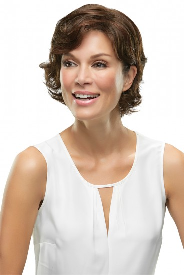 Top Crown Hair Additions Monofilament Clip In Hair Piece