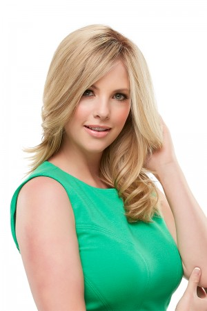 "Top Form 12"" Hair Additions Remy Human Hair Monofilament Clip In Topper Hair Piece by Renau Exclusive"