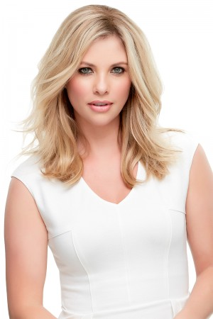 """Top Style 12"""" Hair Additions Remy Human Hair Monofilament Clip In Topper Hair Piece"""