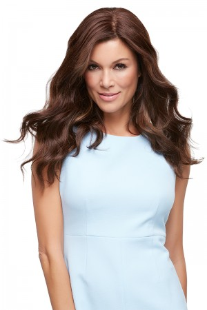"Top Style 18"" Hair Additions Remy Human Hair Monofilament Clip In Topper Hair Piece by Renau Exclusive"